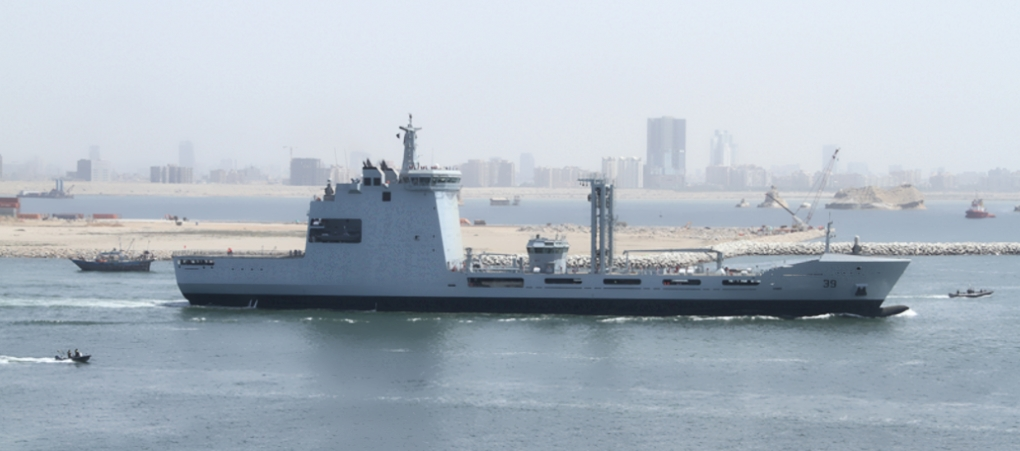 Pakistan Navy's New Fleet Tanker PNS Moawin started to conduct sea trials