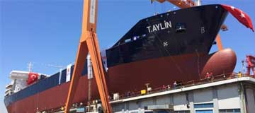 World's Largest Asphalt Tanker, T.AYLIN Launched!