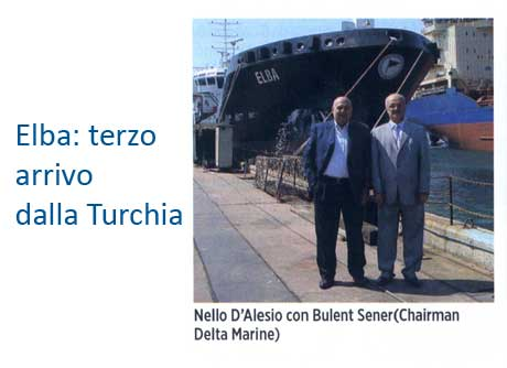 Designed by Delta Marine, Elba was delivered to D
