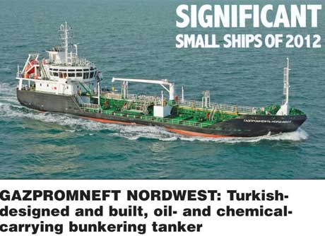 RINA: Gazpromneft Nordwest is one a Significant Small Ship of 2012