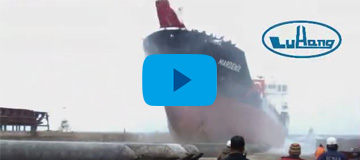 Launching of 7000 DWT Tanker with Marine Airbags for ICDAS